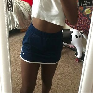 authentic nike dri-fit navy and white tennis skirt
